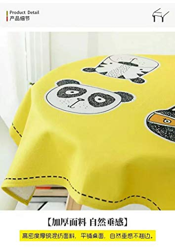 Creek Ywh American Friki cartoon cat trend koffie tafelkleed keuken tafelkleed katoen verdikking katje partner geel (vierkant) 140 x 140