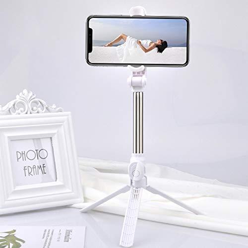 FGRYB Palo Selfie, 1 Pieza 3 en 1 Portátil Extensible Palillo del Selfie del trípode con Control Remoto Inalámbrico Desmontable Palos Selfie para iPhone Samsung Huawei Xiaomi
