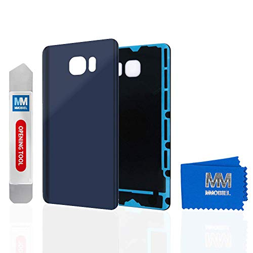 MMOBIEL Backcover Akkudeckel Rückseite Rück Klappe kompatibel mit Samsung Galaxy Note 5 5.7 inch N920 (Black Sapphire/Blau)