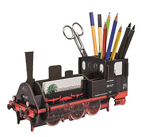 WERKHAUS(ベルクハウス) ドイツ製 ペン立て おしゃれ かわいい 文房具 SL きかんしゃ 鉄道 プレゼント 収納 エコ リサイクル 木材を利用 MADE IN GERMANY