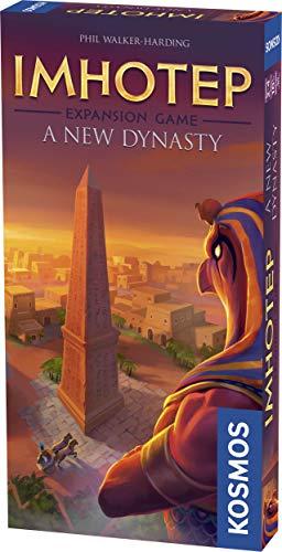 Themse & Kosmos 694067 - Imhotep: A New Dynasty (Expansion) | BAU der Denkmäler geht weiter Strategisches Familienspiel, 2-4 Spieler, ab 10 Jahren