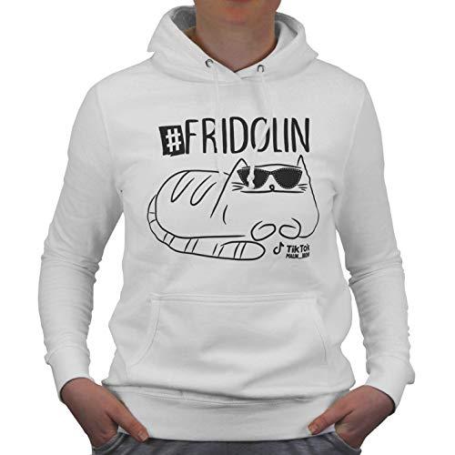 Fridolin oficjalna bluza z kapturem z odważnym kotem od Malin Brown