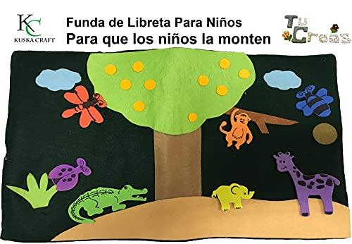 Funda de libreta infantil jungla. Mireglodiferente.com