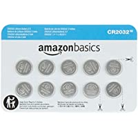10-Pack AmazonBasics CR2032 3 Volt Lithium Coin Cell Battery