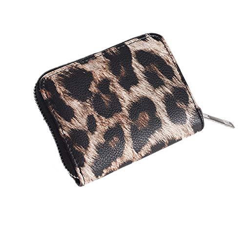 Kleine Clutch-Geldbörse für Frauen PU-Leder-Leopard-Münzen-Reißverschluss-Geldbeutel-Kartenhalter-Mappen