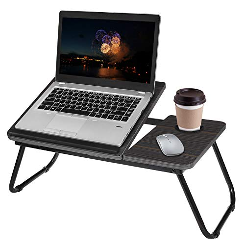 Laptop Bed Tray Table,Lap Desk with Cup Holder & Legs,Adjustable Laptop Desk Working from Home,Folding Lap Computer Desk for Sofa Couch Office, Laptops Stand Lap Table Bed Desk for Laptop and Writing