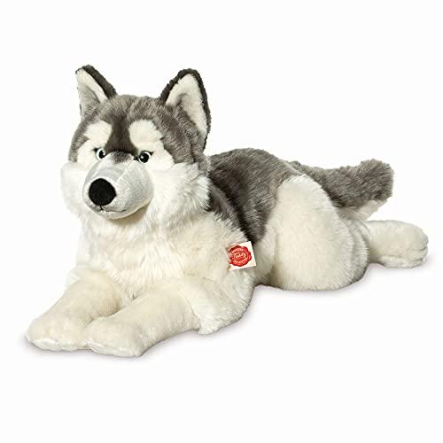 Teddy Hermann 92782 Hund Husky 60 cm, Kuscheltier, Plüschtier