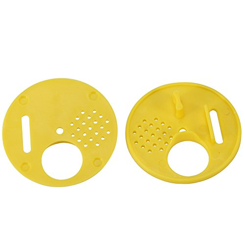 Yeelur 12 Pezzi/Set Attrezzatura per Apicoltura Scatola per Nido d'Ape, Scatola per nocciolo, plastica per Arnie con Barra Superiore