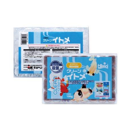 クリーンイトメ 100g 1枚 冷凍飼料 キョーリン エサ スリーステップ殺菌・ビタミン含有冷凍フード
