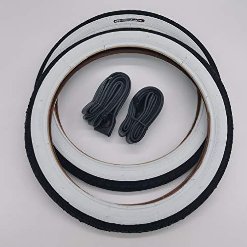 CST 2X Weißwand Reifen 16 Zoll + AV Schläuche Decke Mantel Fahrrad Klapprad Anhänger 16 x 1.75 | 47-305