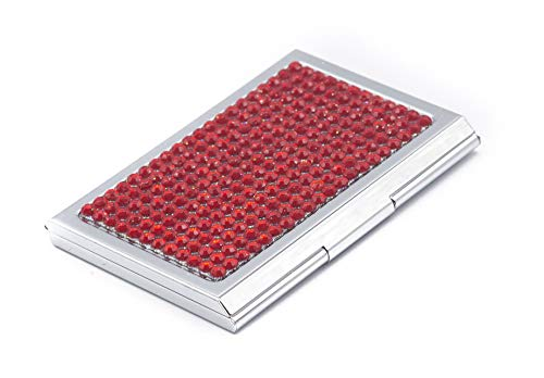 Business Card Case for Ladies - Luxurious Crystal Rhinestone Calling Card Holder for Professional Women - Slim/Fits: 15~20 Cards | Impress Your Prospects & Clientele with Impeccable Class & Demeanor!