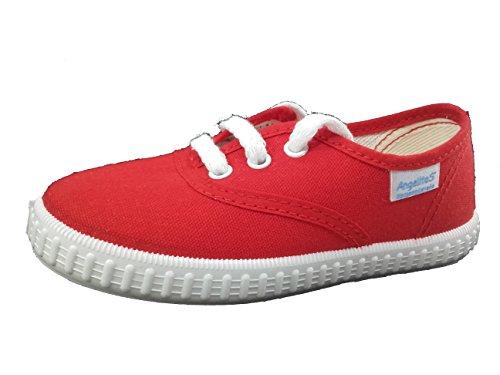 Zapatillas de Lona para Niños y Niñas, Angelitos mod.121, Calzado infantil Made in Spain, Garantia de Calidad. (19, Rojo)