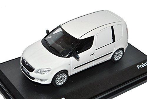 Abrex Skoda Roomster Praktik Weiss 1/43 Modell Auto mit individiuellem Wunschkennzeichen