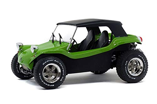 Solido 1968 Buggy Meyers Manx Soft Roof, Green and Black S1802703 - 1/18 Scale Diecast Model Toy Car