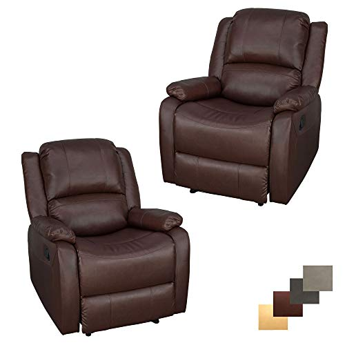 Set of 2 | RecPro Charles Collection | 30' Zero Wall RV Recliner | Wall Hugger Recliner | RV Living Room (Slideout) Chair | RV Furniture | RV Chair | Mahogany