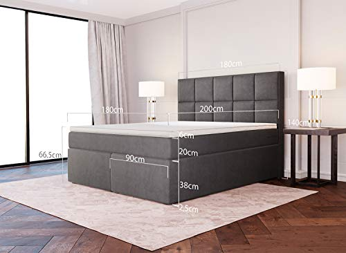 Dream Boxspringbett Grau-Anthrazit Luxusbett Bild 4*