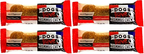 Dogs Love Us Hummus Dog Chews, Natural Long-Lasting Pet Treat, Gluten &...