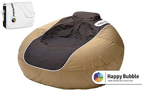 Happy Bubble Opblaasbare zitzak met tas en pomp, loungehauteuil, zitkussen, opblaasbaar, waterdicht
