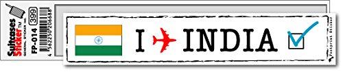 FP-014 フットプリント ステッカー/インド(INDIA) スーツケースステッカー 機材ケースにも! (白)