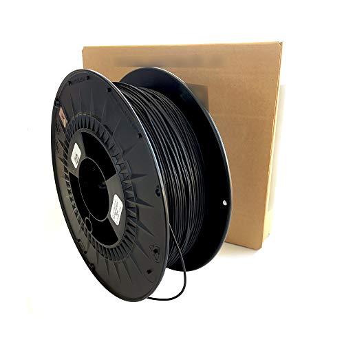 3D printer filament - TPE/TPU RUBBER - Color BLACK - Shore 30 D - 1.75 mm - Weight 500 g