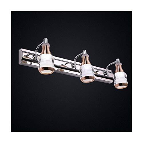MLX Personalidad Creativa 3 Cabezas Luz De Espejo Led Baño Inodoro Lavabo Lámpara De Pared Sala De Estudio Tocador Espejo Luces De Armario LIJQD (Color : Warm Light)