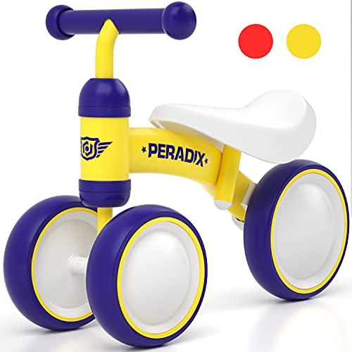 Peradix Bicicleta sin Pedales, Triciclo Bebe para los Niñas y Niños, Correpasillos Bebe Adecuado para Niños de 10 Meses, 1 Años y 2 Años, Bicicleta Niño Original Bebes y Niños (Amarillo)