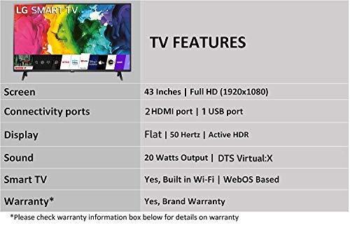 LG 108 cm (43 inches) Full HD LED Smart TV 43LM5650PTA (Ceramic Black) (2020 Model)