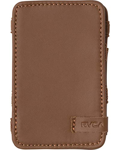 RVCA Men's Leather Magic Wallet, Tan, One Size