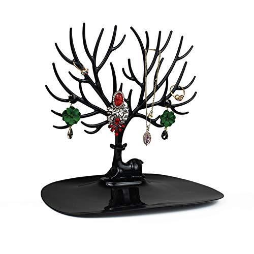 Cheaonglove Organizador Joyas Colgador Collares Sostenedor de la joyería Collar árbol DaWanda Joyas y bisutería joyería árbol Colgador Collar Soportes y Collares Black