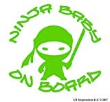 UR Impressions Ninja Baby on Board calcomanía de Vinilo para Autos,...