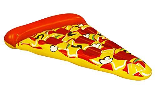 Bluesky-69794 Bluesky - Salvagente materasso Pizza gonfiabile e Cavallabile - Multicolore - 69794-178 x 78 cm - Gioco di Pizza Air da 14 anni