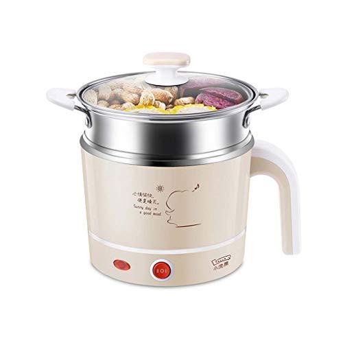 Tragbare Kocher Elektrische Topf Wasserkocher Multifunktionale Mini Für Kochen Suppe Brei Und Gedünstetes Food1.2L (UK Stecker) (größe : S)