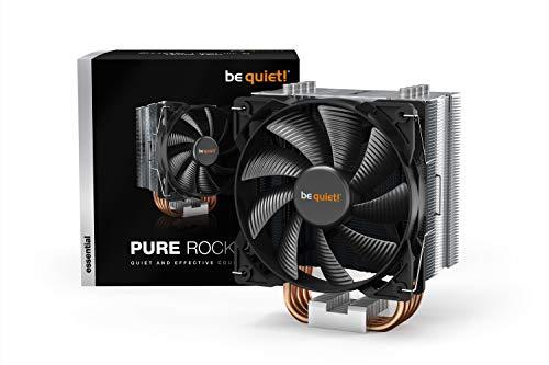 be quiet! Pure Rock CPU-Kühler 120mm PWM Prozessorlüfter für AMD und Intel schwarz BK006