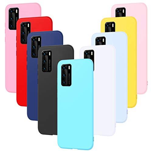 9X Cover per Samsung A71, CaseLover Ultra Sottile Morbido TPU Silicone Custodia Samsung Galaxy A71 Satinate Opaco Protezione Copertura Matte Gomma Gel Protettiva Caso Antiscivolo Case - 9 Colori
