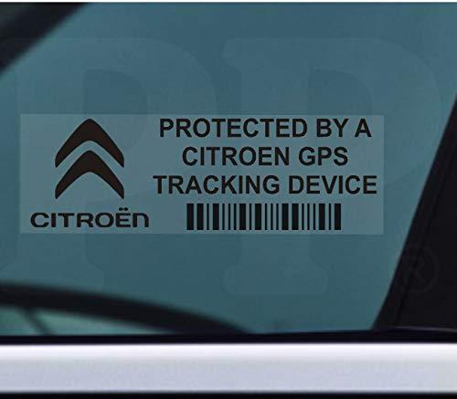 5x ppcitreongpsblk GPS negro dispositivo de seguimiento de seguridad ventana pegatinas 87x 30mm-car, Van alarma Tracker