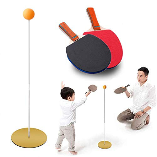 Read About AILSAYA Table Tennis Training Device with 2 Paddles & 3 Ping Pong Balls, Automatic Reboun...
