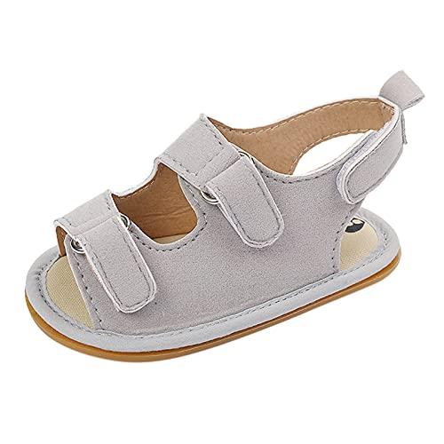 Baby Sandalen Unisex Kleinkind Jungen Mädchen Sommer Schuhe Flach Babyschuhe Offener Zeh Klettverschluss Kleinkind Schuhe Rutschfest Badeschuhe Jungen Trekkingsandalen