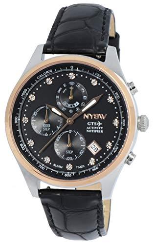 NYSW   Reloj Inteligente híbrido con Cristales de Swarovski, Hermoso Cristal de Zafiro, Calendario perpetuo, Impresionante Segunda Mano y más (TC-TS-01)