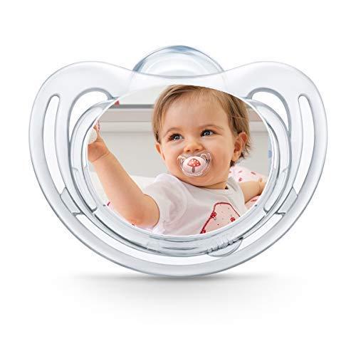 NUK Freestyle Fotoschnuller zum selbst Gestalten, Silikon, BPA-frei, (6-18 Monate, Transparent), myNUK1017P