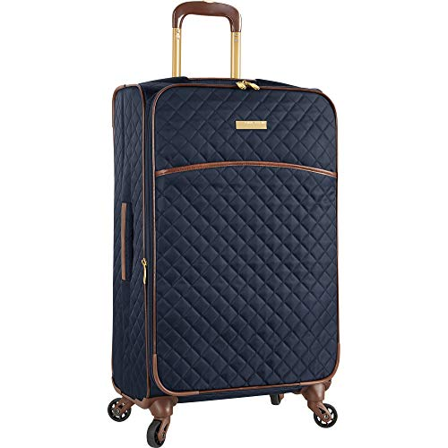 Anne Klein Women's 29' Expandable Softside Spinner Luggage, Navy Quilted