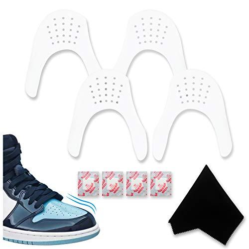 CawBing - Zapatillas, 2 pares de zapatillas, con dado hidratante, [gamuza limpiadora] [Crease Protector] [Se puede adaptar] Herramientas de zapatos para hombres 7-12 / mujeres 5-8 blanco