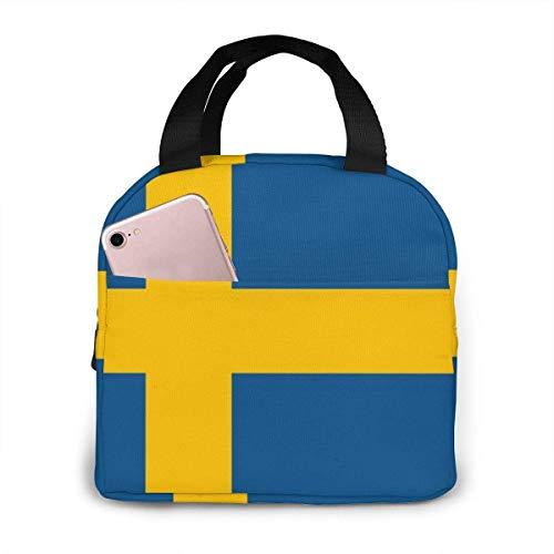 shenguang Suède drapeau suédois grand sac à lunch pique-nique isolé sac fourre-tout réutilisable congelable portable étanche boîte à lunch étanche panier refroidisseur pour pique-nique