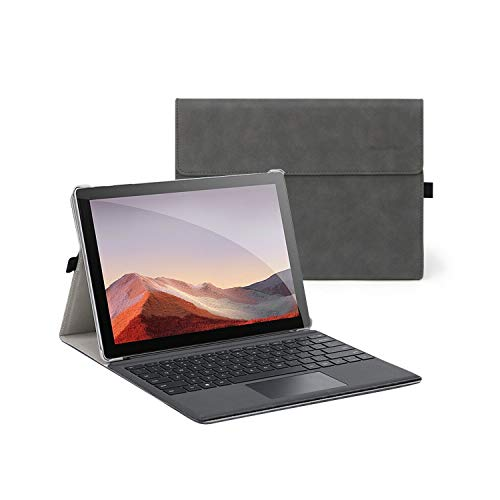 Case and Covers for 12.3 Inch Microsoft Surface Pro 7, Surface Pro 6, Surface Pro 5, Surface Pro 4 - Compatible with Type Cover Keyboard
