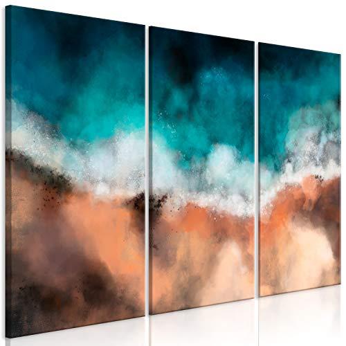 murando Cuadro en Lienzo Abstracto 135x90 cm Impresión de 3 Piezas Material Tejido no Tejido Impresión Artística Gráfica Decoracion de Pared Mar Barco Azul Paisaje Naturaleza Como Pintado c-C-0452-b-e
