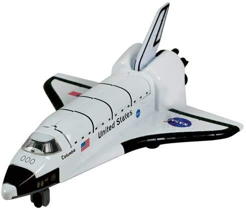 Planes 7' Die-cast Metal Space Shuttle with Pull Back n Go Action.