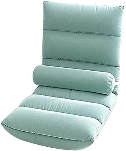 Silla ergonómica para el suelo, sofá ajustable de 5 posiciones, silla de meditación con soporte para la espalda, silla de juegos portátil para adultos y niños (color azul)