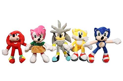 Sonic Toys 5pcs/lot Sonic The Hedgehog Doll Peluche Animal Películas de Peluche Juguete Bebé acompañar Regalo para Niños