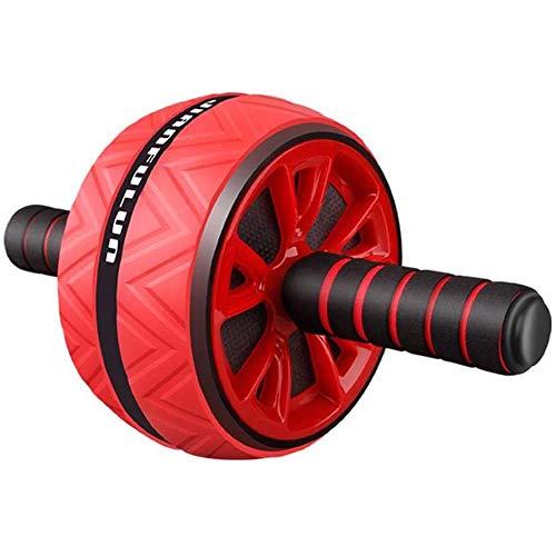 Rueda de ejercicio abdominal Roller Antideslizante del músculo abdominal de ruedas, Home Fitness ejercicio abdominal Core entrenamiento de la fuerza, ABS + Material Acero, unisex ( Color : Red )
