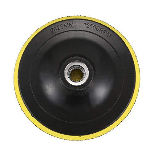 OVBBESS Polishing Almohadilla de Respaldo Almohadilla de Lijado Almohadillas M14 Para Máquina Pulidora Nuevo Diámetro de Rosca K1: 125 Mm