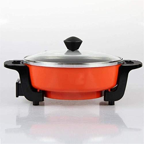 Parrilla eléctrica portátil, Cocina múltiple - sartén eléctrica con tapa de vidrio,...